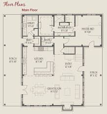 Main Floor Plan Farmhouse Series 52x48 Timber Frame Style Home More