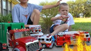 100 Toddler Fire Truck Videos Playtime L Garbage For Children L Garbage