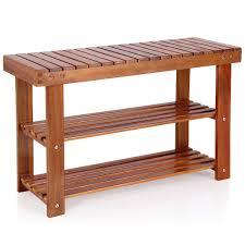 2in1 schuhregal und sitzbank aus akazienholz 70cm