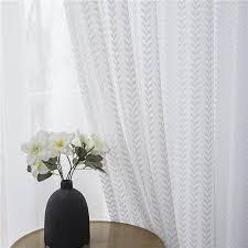 transparente gardine modern bäume muster für schlafzimmer 1er pack