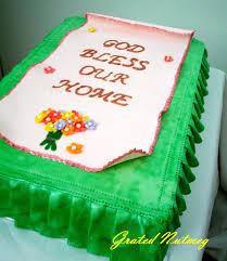 Housewarming Cake Grated Nutmeg