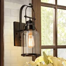 country style 18 h single light led wall light in rust