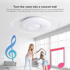 offdarks led smart deckenleuchte kompatibel mit assistant bluetooth lautsprecher einstellbare helligkeit farbiges