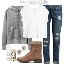 Isaac Inspired Outfits With Brown Work Boots