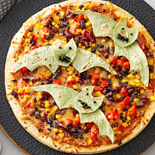 Ideas For Halloween Finger Foods by Flying Bat Pizzas Recipe Taste Of Home