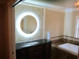 lighted bathroom vanity mirrors image of lighted swing arm mirror