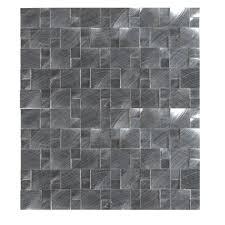ms international silver aluminum pattern 12 in x 12 in x 8 mm