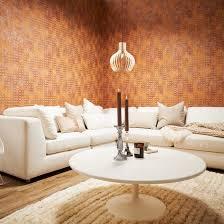 livingwalls vliestapete new walls tapete grace geometrisch grafisch metallic braun orange