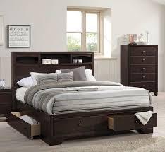 acme madison ii eastern king bed w storage espresso 19557ek