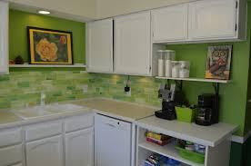 kitchen backsplashes green glass backsplash white kitchen