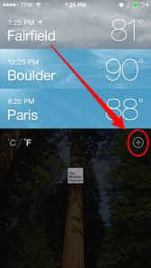 How to Set a Default Location in the iPhone Weather App