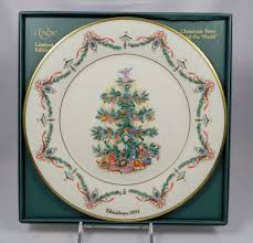 LENOX CHRISTMAS TREES AROUND THE WORLD Collectors Plate W Box SET OF 5