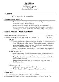 Sample Resume Customer Service Representative Outbound No