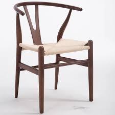 moderne hans wegner wishbone esszimmer stuhl buche holz nussbaum rot braun finish y stuhl für cafe möbel holz sessel
