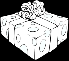Present black and white t clipart graphics of beautifully wrapped presents