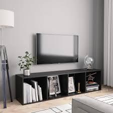 wandregal bücherregal tv schrank schwarz 143 30 36 cm hängeregal regal für wohnzimmer badezimmer küche