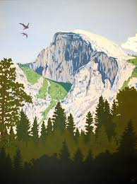 Half Dome In Yosemite Painting By Siparia On Etsy