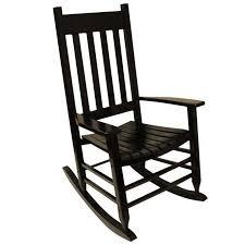 Shop Garden Treasures One Painted Black Wood Slat Seat ...