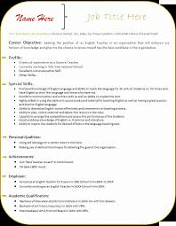 Gallery Of Resumes Format For Teacher Fresh Science Resume Doc Inspiring