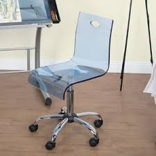 Wayfair Swivel Desk Chair by Clear Acrylic Desk Chair Wayfair