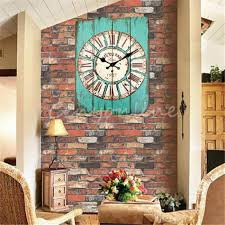 Large Wall Clocks Retro Vintage Rustic Clock Shabby Chic Home Office Coffeeshop Bar Decor Decoration