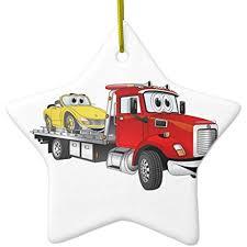 100 Tow Truck Flatbed Amazoncom Cheyan Red Cartoon Metal Ornament Star