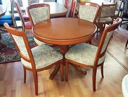 esstisch ausziehbar glänzend kirschbaum 4 stühle