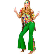 LADIES HIPPIE HIPPY 60S 70S GROOVY RETRO FANCY