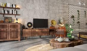 leaf design asiatische wohnzimmer homify