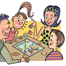 Family Playing Games Clipart 1