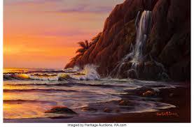 100 Christian Lassen Prints CHRISTIAN RIESE LASSEN American B 1949 Sunlit Waves And A Lot
