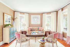 How To Decorate Feminine Rose Quartz Peach Nude Pink Pastel Living Room Dining Grasscloth Stripe