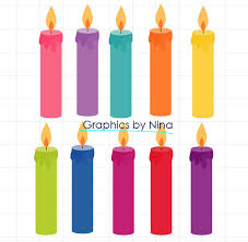 INSTANT DOWLOAD Birthday Candles clipart Birthday clipart Scrapbook for Personal and mercial Use from Ninasdesignstudio on Etsy Studio