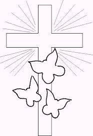 Cross Coloring Pictures Christ Religious Page