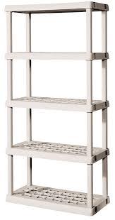 Amazon Sterilite 5 Shelf Unit with Light Platinum
