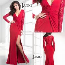compare prices on popular long sleeve red gown dresses online