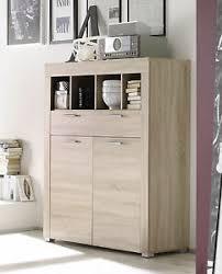 details zu kommode sonoma eiche hell highboard wohnzimmer schrank esszimmer boom touchwood