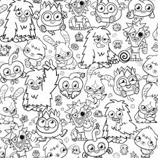 Bunch Ideas Of Moshi Monster Coloring Pages To Print About Layout