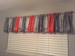 Primitive Curtains For Living Room by Gray Orange And White Bandana Curtain Valance Not All The