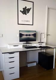 Ikea Linnmon Corner Desk Hack by My Ikea Battlestation Home Theater And Gaming Pinterest