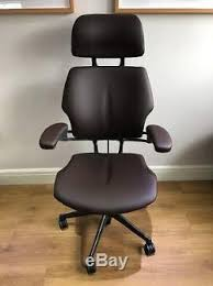 chocolate leather humanscale freedom ergonomic office task chair