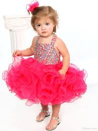 2017 glitz pageant dresses for toddler halter sweetheart baby