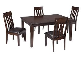 Haddigan Dark Brown Rectangle Dining Room Extension Table W 4 Upholstered Side ChairsSignature