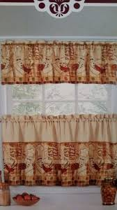 Fat French Chef Kitchen Curtains by Fat Italian French Bistro Chef Red Black White Kitchen Window