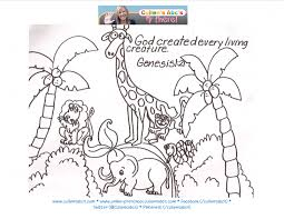 Coloring Pages On The Story Of Creation Home For Children Kids And Medium Size