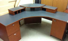 desk reception furniture awesome double reception desk ikea