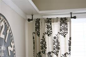 No Drill Curtain Rods Home Depot by Ceiling Mounted Curtain Track System Home Depot Pranksenders