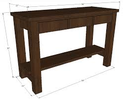 Ana White Sofa Table by Ana White Gaby Kitchen Island Diy Projects