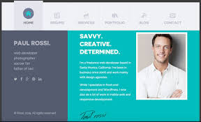 Professional Resume Website Design Examples