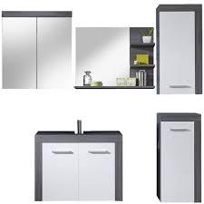 spiegelschrank miami badezimmer schrank sardegna rauchsilber grau 2 türig 72x79 cm ohne beleuchtung